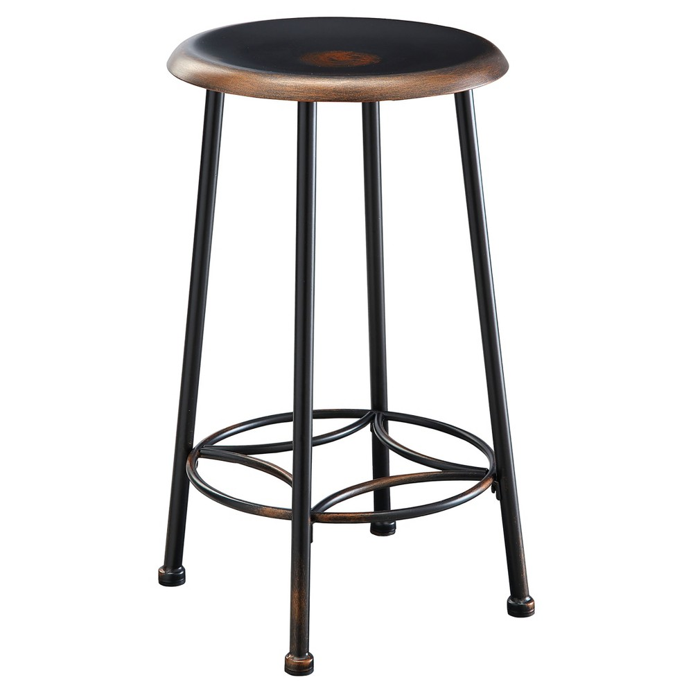"Image of ""24"""" Daly Counter Stool Antique Copper - Carolina Chair and Table, Brown"""