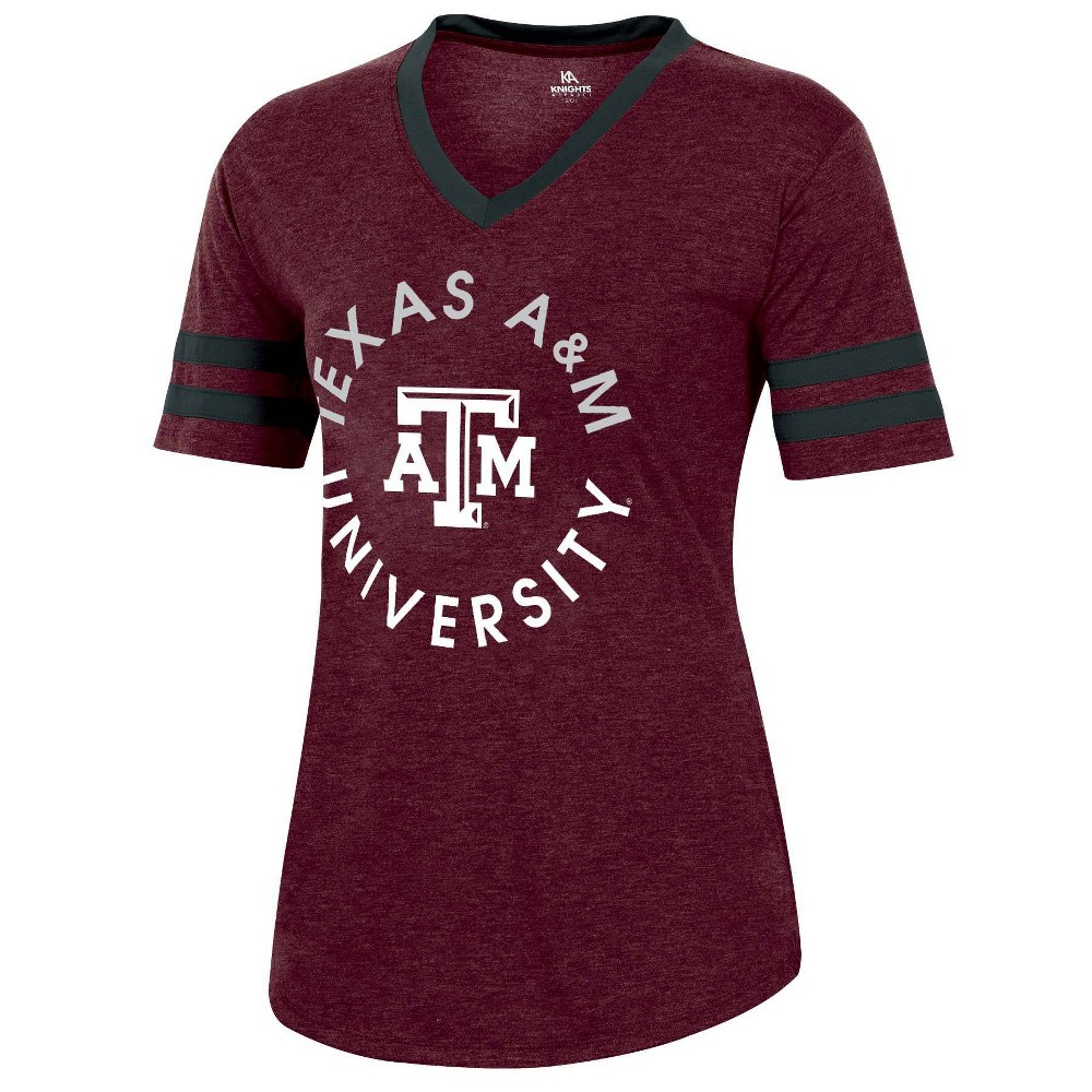 Ncaa Texas A 38 M Aggies Women 39 S Short Sleeve V Neck Heathered T Shirt M