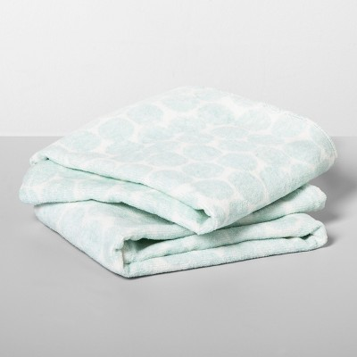 2pk Medallion Towels Aqua/White - Opalhouse™