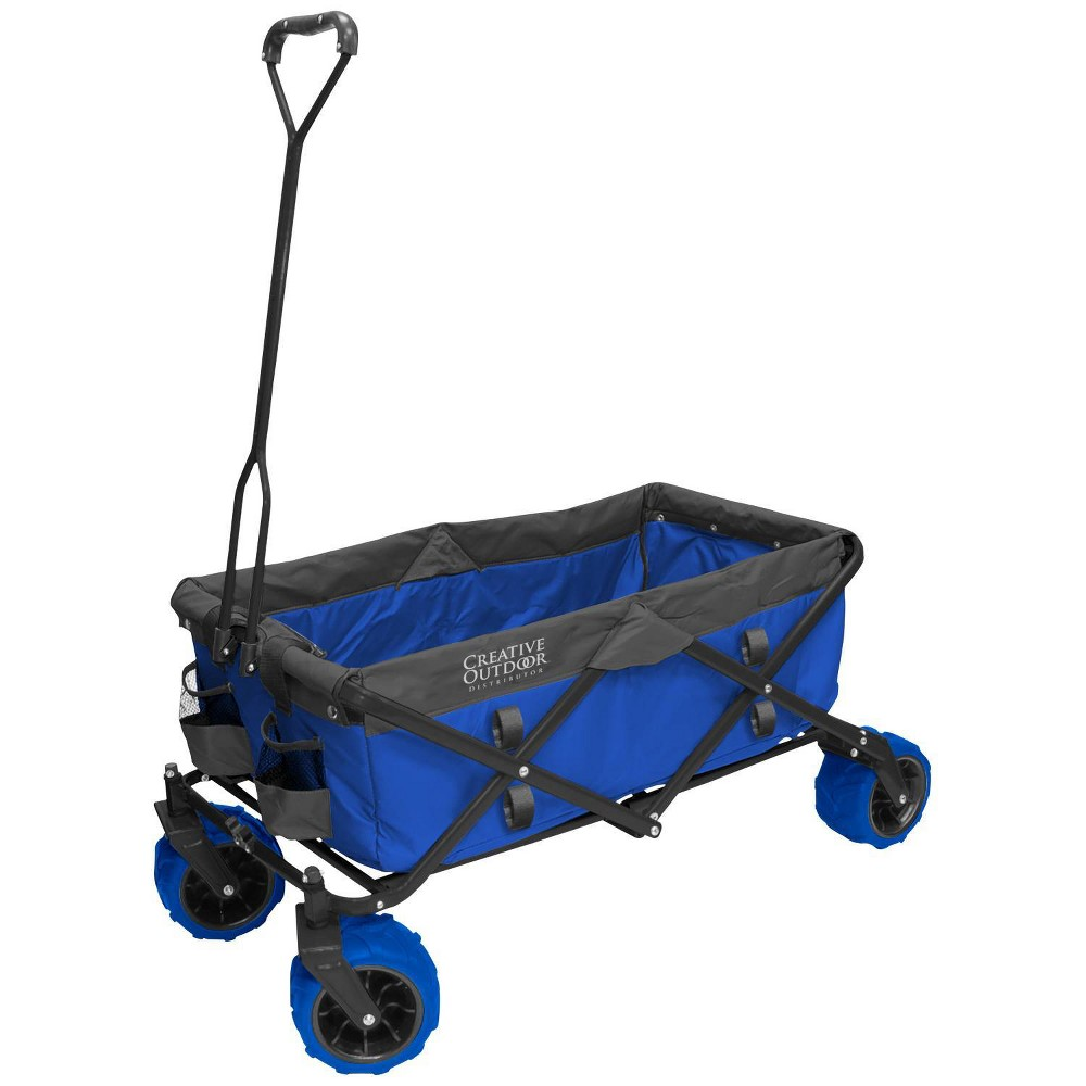 Image of Creative Outdoor Distributor All Terrain Folding Wagon - Blue Gray