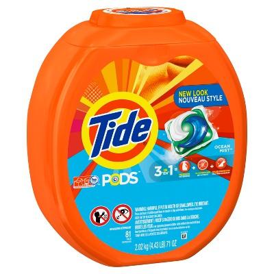 Tide PODS Laundry Detergent Pacs Ocean Mist - 81ct