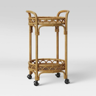 Round Rattan Bar Cart Brown - Opalhouse™