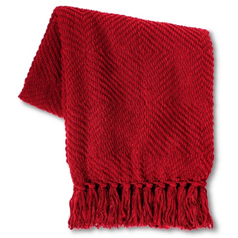 Chenille Diamond Throw Blanket - Threshold™ - image 1 of 1