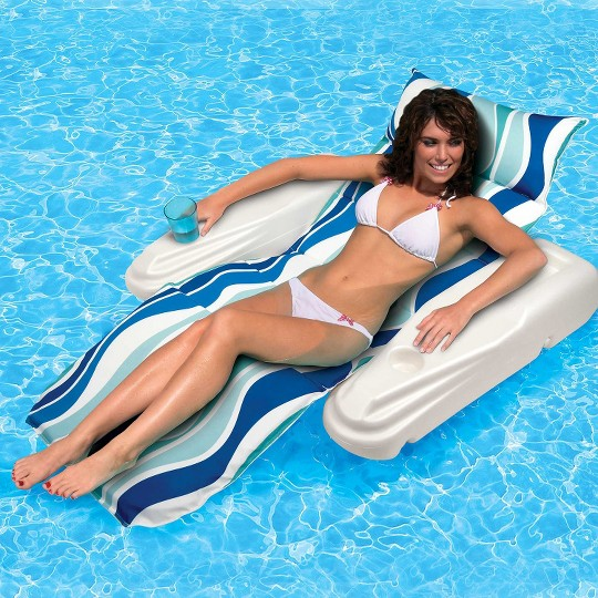 Poolmaster Blue Rio Sun Adjustable Chaise Lounge image number null