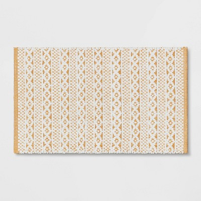 "20""x32"" Chenille Bath Rug Gold/White - Threshold™"