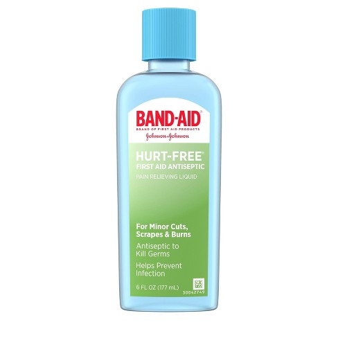 Band Aid Brand First Aid Hurt-Free Antiseptic Wash Treatment - 6 fl oz - image 1 of 4