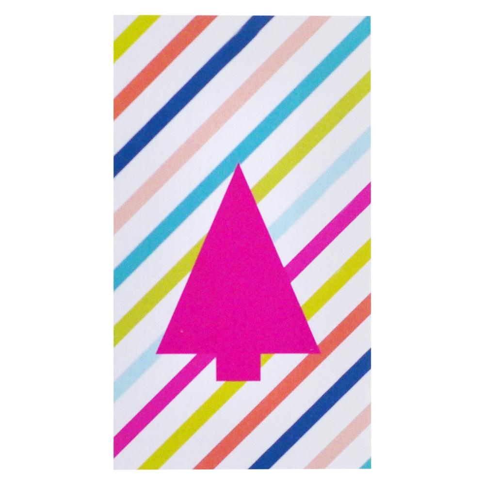 Image of Christmas Tree Gift Tag Pink