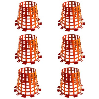 Plant Knight Tree Trunk Guard Protector with 6 Inch Plastic Expandable Wrap Fence Cage Ventilation and Clip for Garden Protection, 6 Pack (Orange)