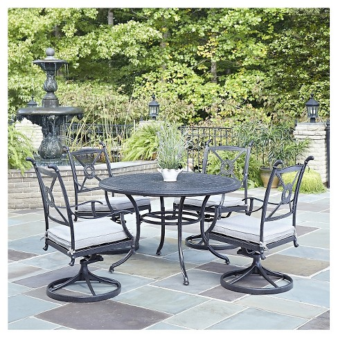 "Home Style Athens 5 - Piece 48"" Patio Dining Set - Charcoal Finish - image 1 of 1"