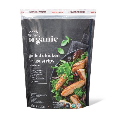 Organic Grilled Chicken Breast Strips - Frozen - 14oz - Good & Gather™