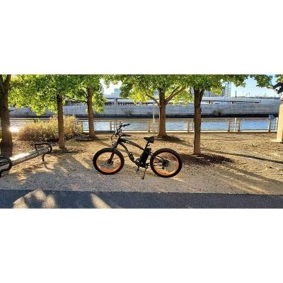 "Ecotric Hammer 26"" Electric Cruiser Bike - Orange"