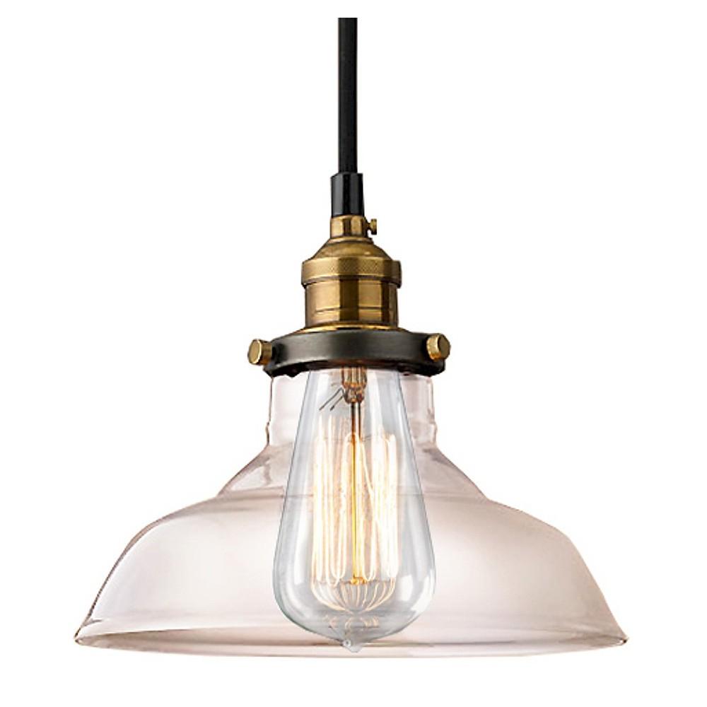 Warehouse Of Tiffany 13 X 13 X 14 Brass White Ceiling Light