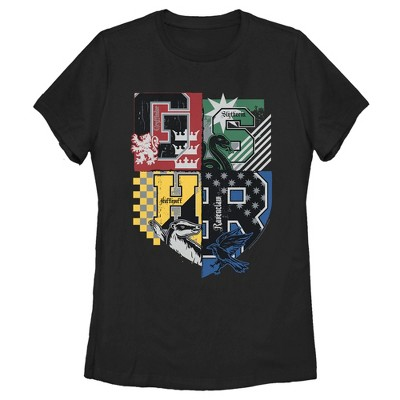 Women's Harry Potter House Crests Shield T-Shirt