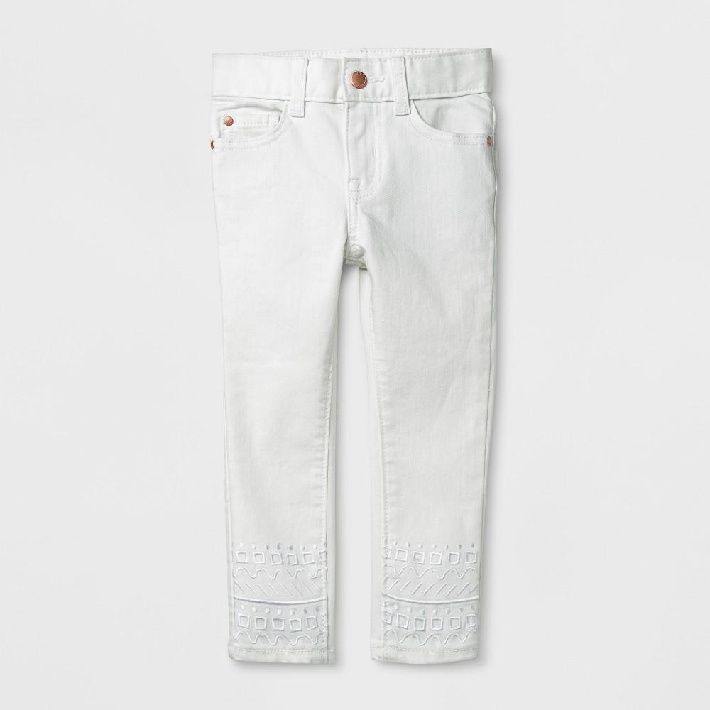Toddler Girls' Genuine Kids from Oshkosh Skinny Jeans - Fresh White 18M