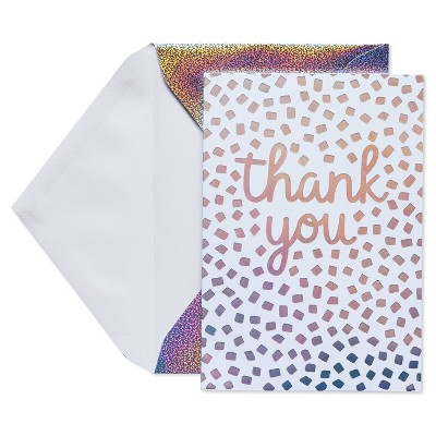 24ct Thank You Cards with Envelopes Confetti - Spritz™