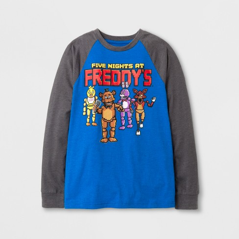 e23a0ac6a Boys' Five Nights At Freddy's Long Sleeve Graphic T-Shirt - Royal Heather