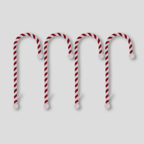 Haute Decor 4ct Candy Cane Christmas Stocking Holders - image 1 of 2