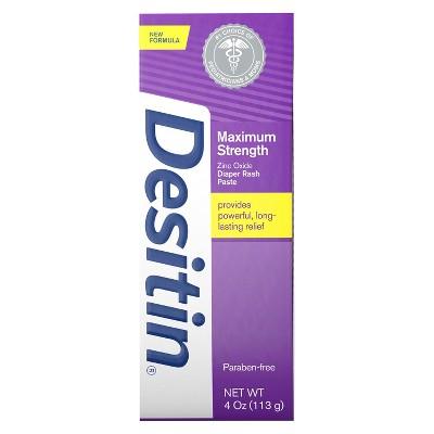 Desitin Maximum Strength Baby Diaper Rash Cream with Zinc Oxide - 4oz
