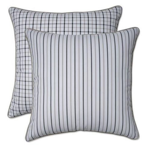 "16.5"" x 16.5"" Outdoor/Indoor Throw Pillow Austin/Nash Birch Brown - Pillow Perfect - image 1 of 1"