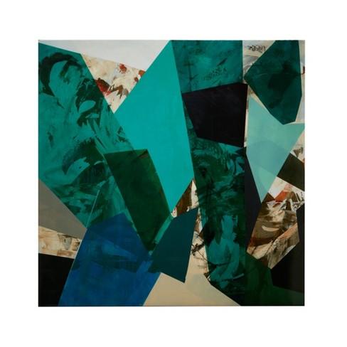 "Arrowroot 1 Glass Coat Canvas Blue 30""x30"" - image 1 of 5"
