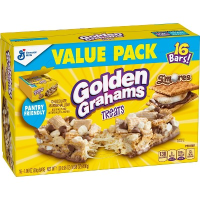 Golden Grahams S'mores Chocolate Marshmallow Biscuit Bars - 16ct