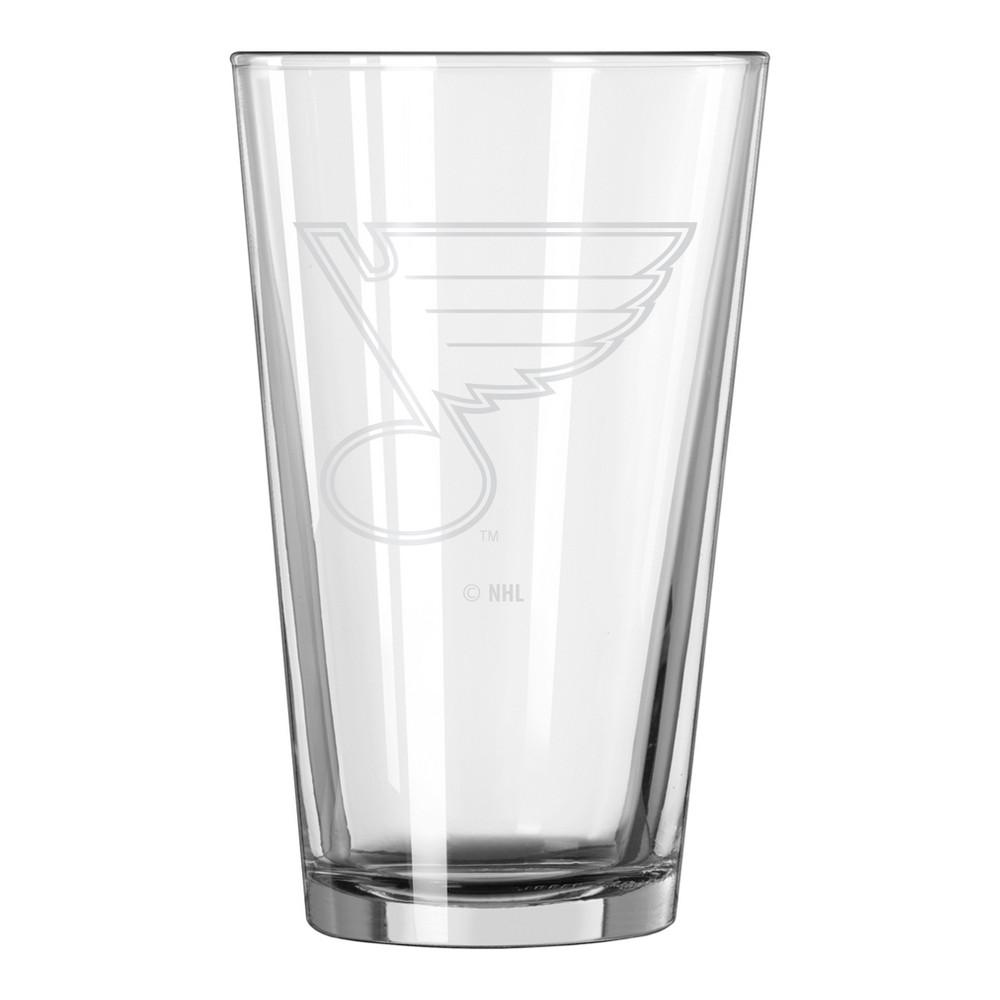NHL St. Louis Blues 16oz Satin Etch Single Pint Glass