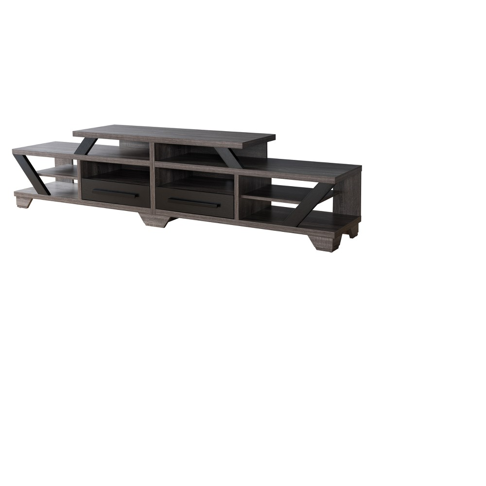 Iohomes Harla Contemporary 82 Tv Stand Distressed Gray - Homes: Inside + Out, Industrial Gray