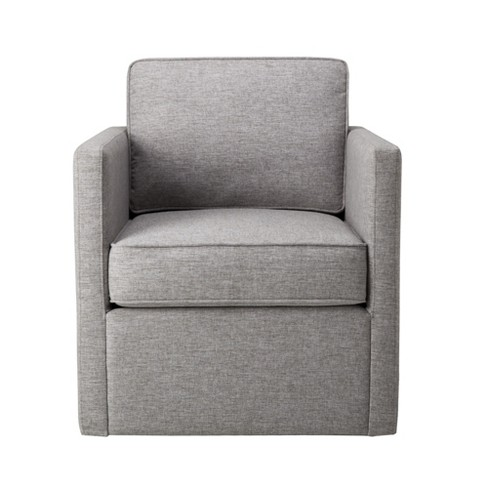 Modern Accent With Swivel Base Light Gray Homepop