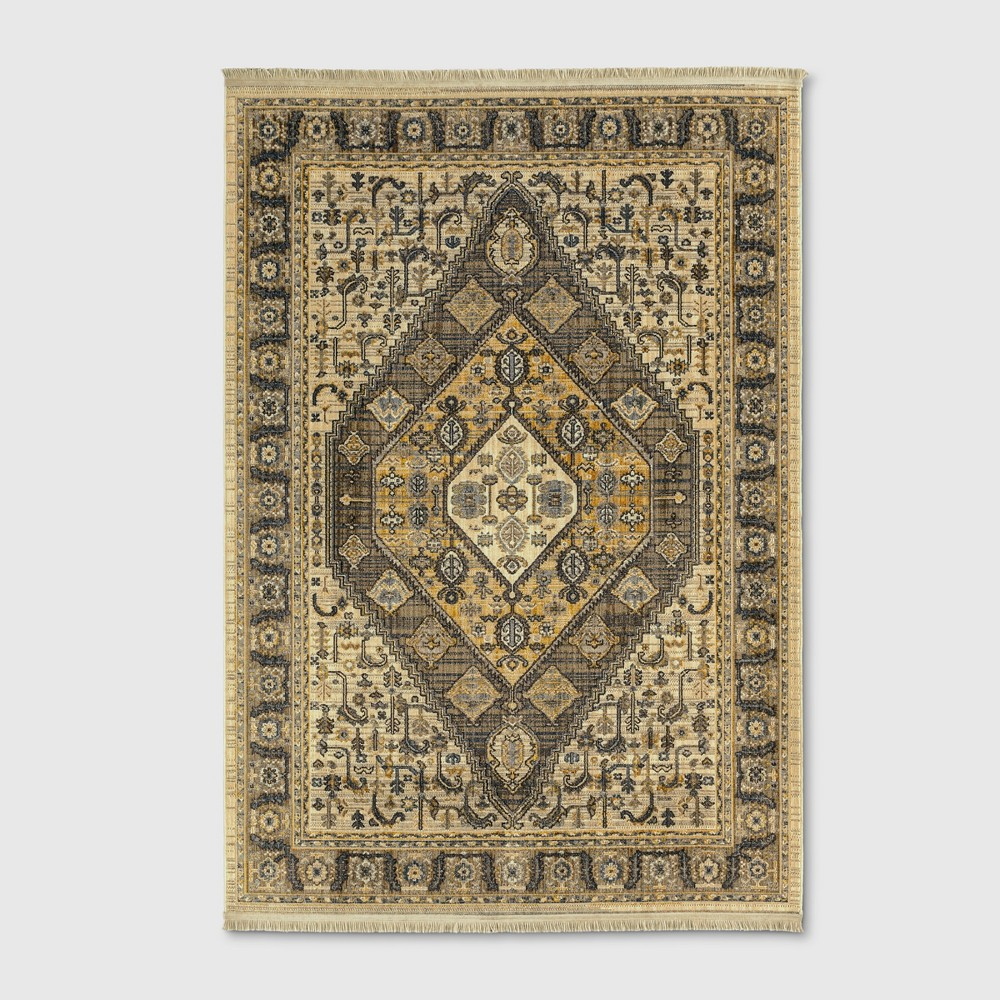 7'X10' Medallion Woven Area Rugs Brown - Threshold