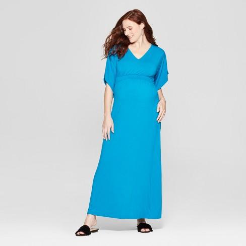c50df0646a0c3 Maternity Kimono Sleeve Maxi Dress - Isabel Maternity by Ingrid & Isabel™  Blue