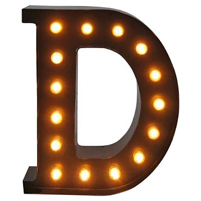 Metal Marquee Small Letter LED Lamp D - Threshold™