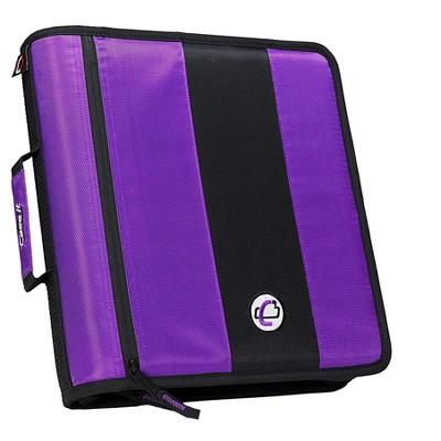 Case It Case-it Classic 2 3-Ring Zipper Binder, Purple D-251