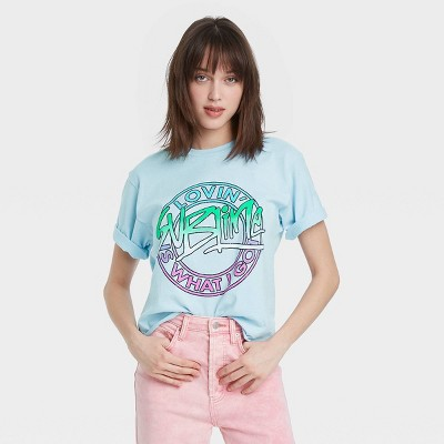 Women's Sublime Short Sleeve Oversized Graphic T-Shirt - Blue