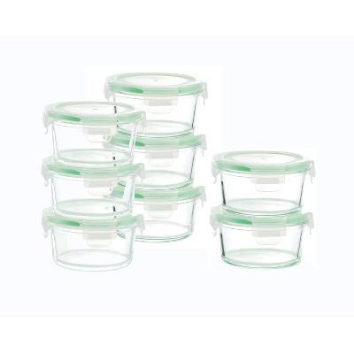 Kinetic Go Green Glassworks Round Food Storage Container Set - 33oz