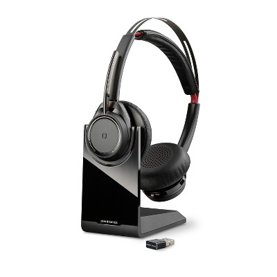 Plantronics Voyager Focus UC Headset B825m for Microsoft with a Charge Stand - Dual Ear (Stereo) Headset - Microsoft Teams Certified Version - Plantronics a Poly Company