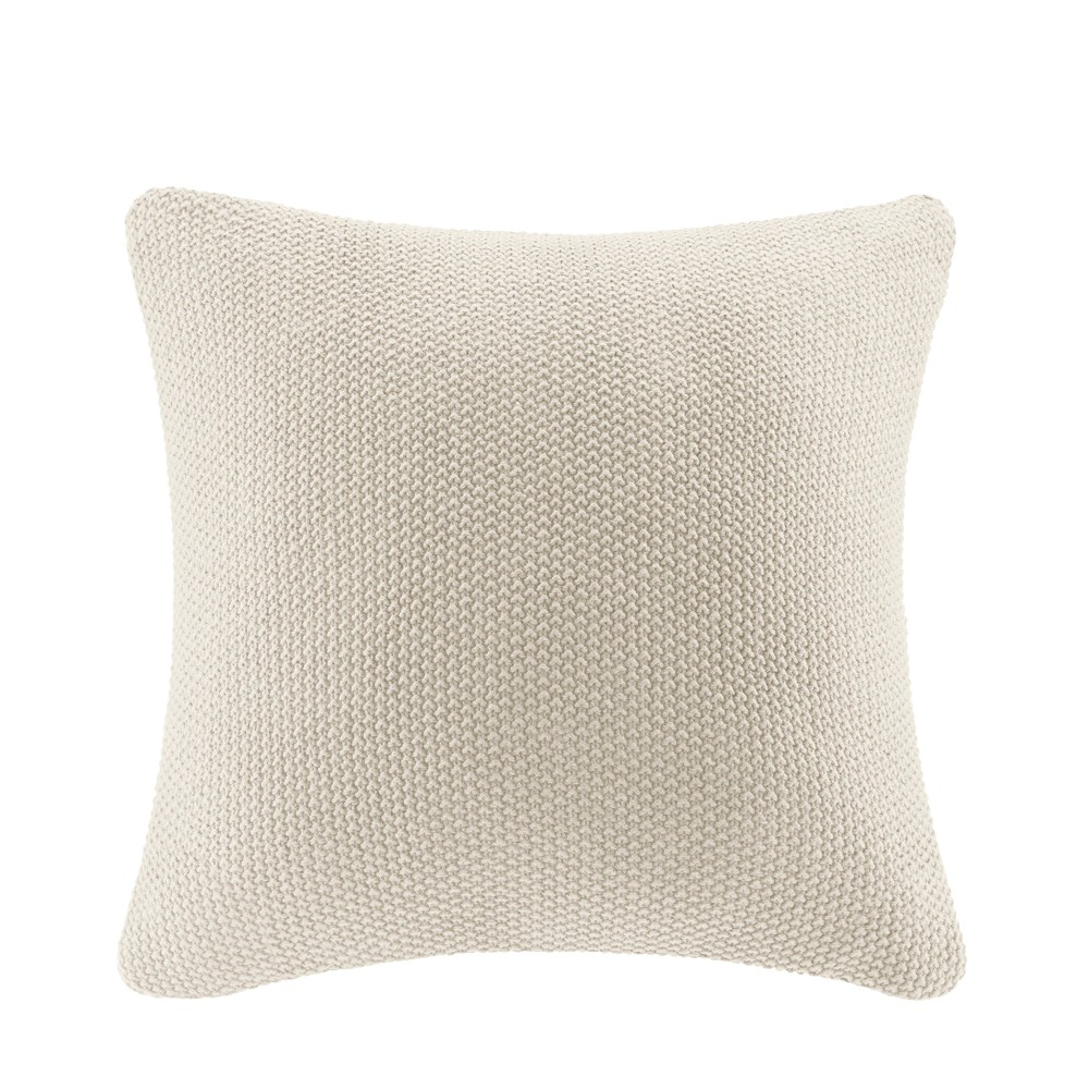 "Image of ""Bree Knit Throw Pillow Ivory, Size: 20""""x20"""""""