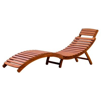 Curved Folding Chaise Lounger -Northbeam