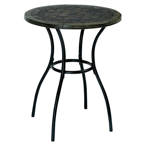 Dannette Transitional Stone Insert Round Table - Black - Furniture of America - image 1 of 3