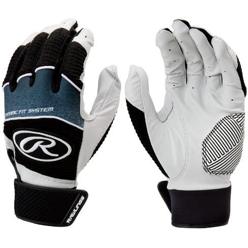 3e97866fa6 Rawlings Workhorse Adult Baseball Softball Batting Gloves - Black ...