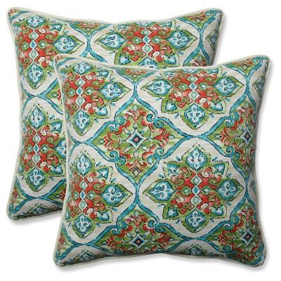 Outdoor/Indoor Splendor Opal Throw Pillow Set of 2 - Pillow Perfect