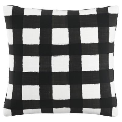 Black Buffalo Square Throw Pillow (20 x20 )