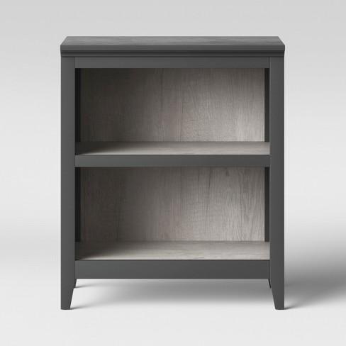 "36"" Carson 2 Shelf Bookcase Gray - Threshold™ : Target"