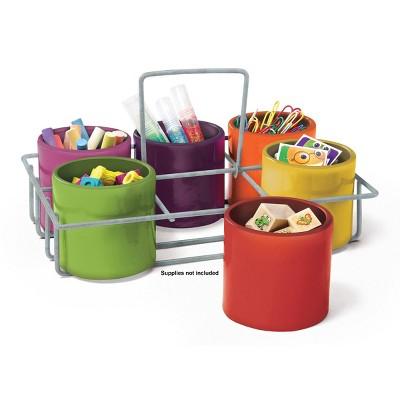 "10.5"" x 7.5"" 6-Cup School Supply Caddy - Sensational Classroom"