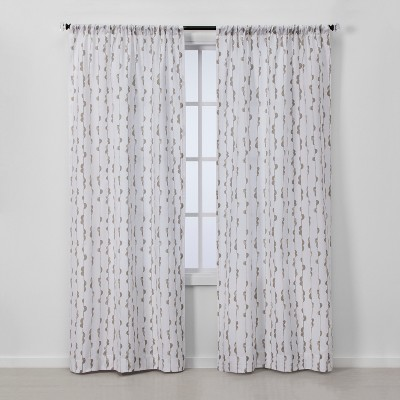 2pc 84 x40  Light Filtering Window Curtain Panels White/Gray - Project 62™