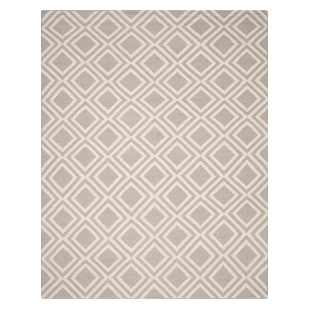 8'X10' Geometric Area Rug Gray/Ivory - Safavieh