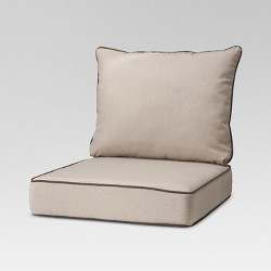 Rolston 2pc Outdoor Seat & Back Replacement Chair/Loveseat Cushion Set Beige/Chocolate - Grand Basket