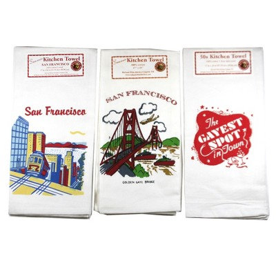 """Tabletop 24.0"""" San Fran Towels/ Gayest Spot Kitchen Cotton Usa Red And White Kitchen Company  -  Kitchen Towel"""