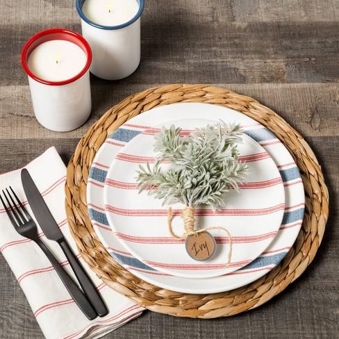 Dinner Plate Melamine Americana Blue Stripe - Hearth & Hand™ with Magnolia