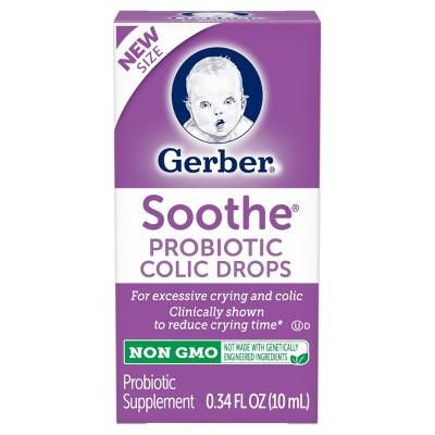 Gerber Soothe Probiotic Colic Drops - 0.34 fl oz