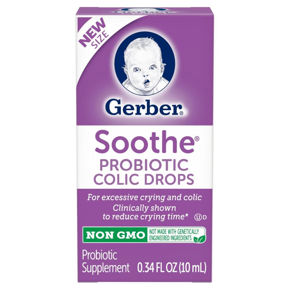 gerber soothe probiotic colic drops non gmo